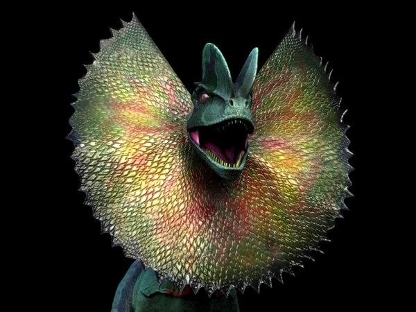 maya dilophosaurus frill