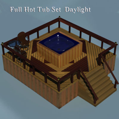 deck set hot tub 3d 3ds