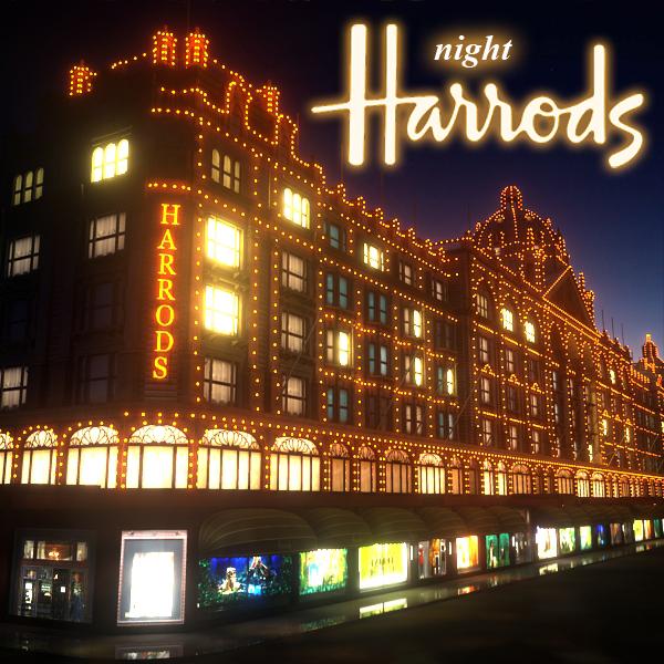 3d night shopping mall harrods