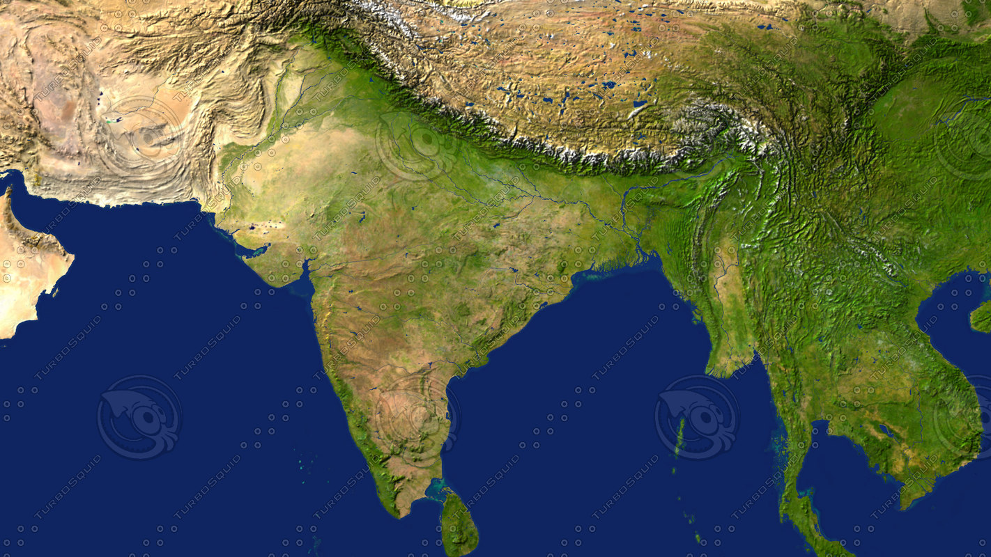 3D Map Of India maps india 3d max