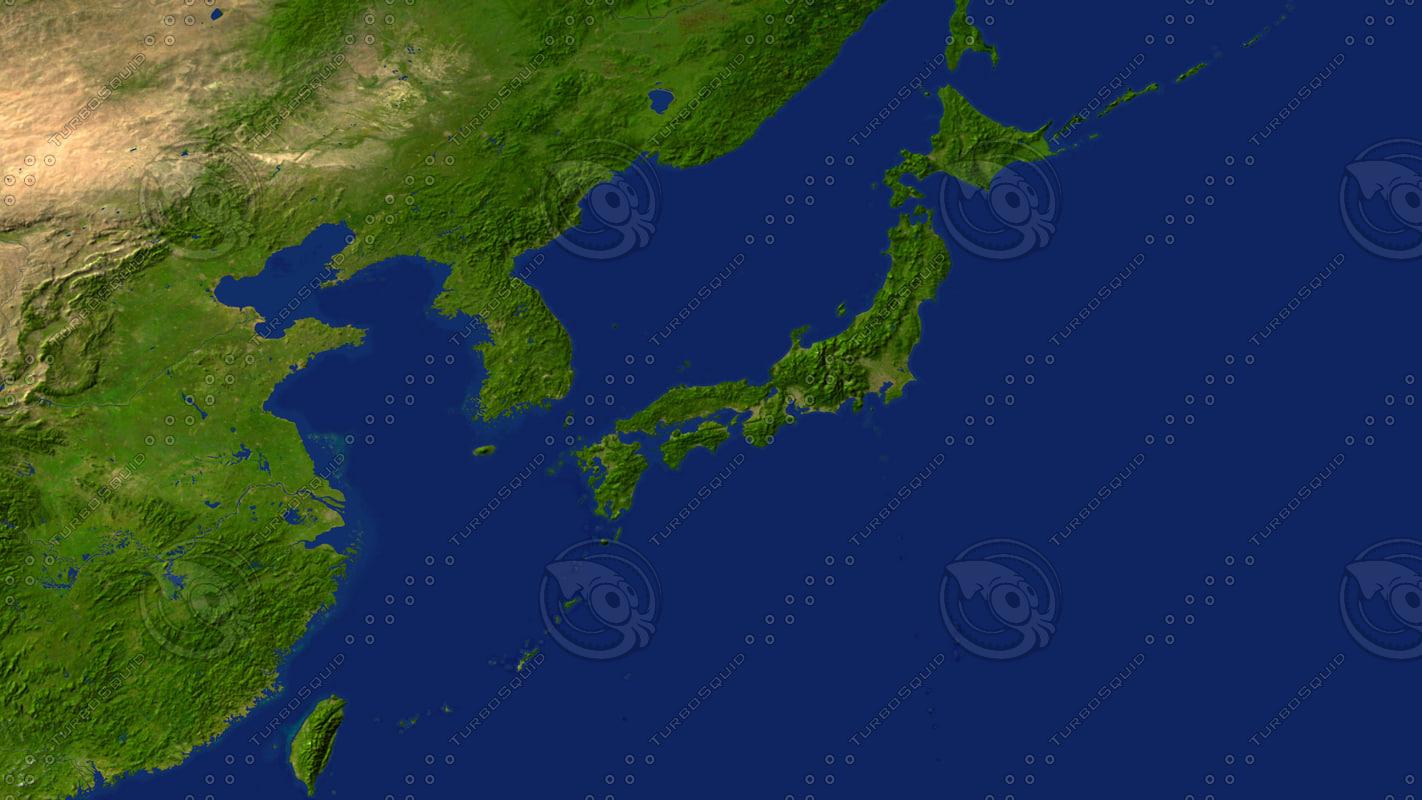 Maps D Model - Japan map 3d