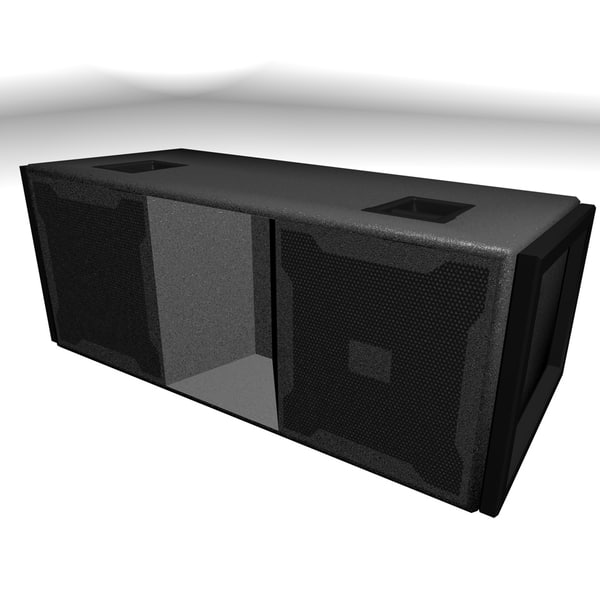 3d model jbl line-array speaker