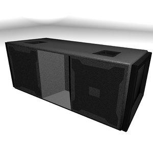 3d model jbl line-array speaker