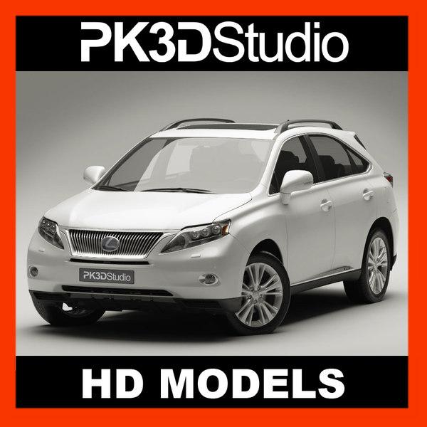3d lexus rx 450h 2010 model