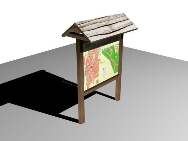 3d model map wood
