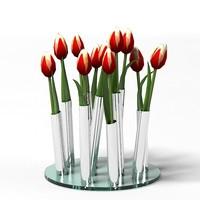 philippi bouquet ultramodern chrome vase tulip acessories