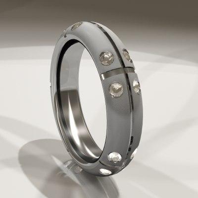 3d cut ring model
