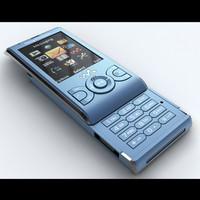 sony ericsson w595 3d model