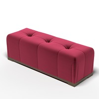 tufted bench pouf max