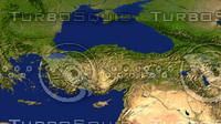 3d turkey maps model