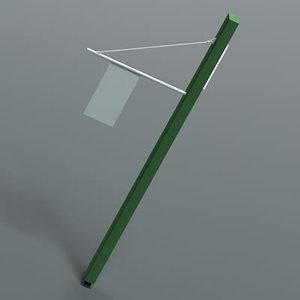 3d exterior lamp