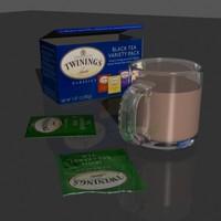 3d 3ds tea mug