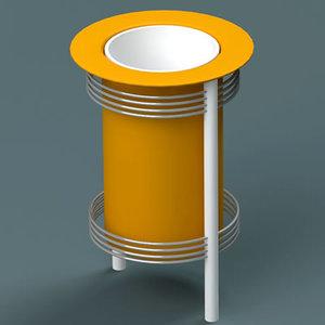 dustbin 04 3d 3ds