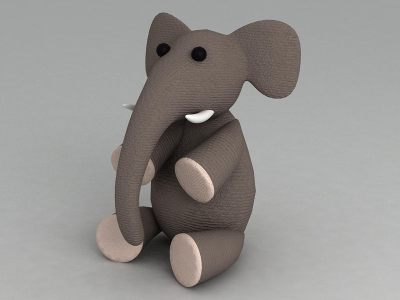 elephant toy 3d max