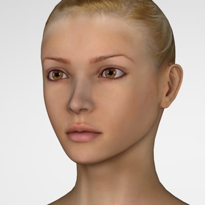 girl female woman 3d model