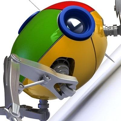 spider robot google 3d model