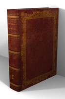 3d model old leather book