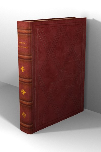 old leather book 3d model