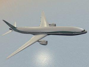 b 777-300 777 3d model