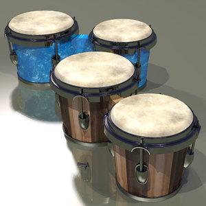 3d bongos jazz percussion