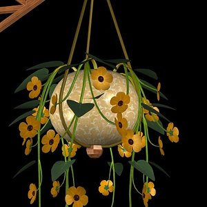 black eyed susan hanging 3d 3ds