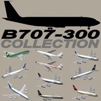 b 707-300 707 3d max