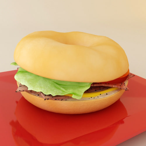 bagel 3d model