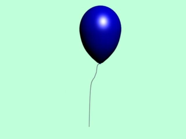 free blue balloon 3d model
