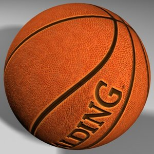 basketball mapped ball 3d max