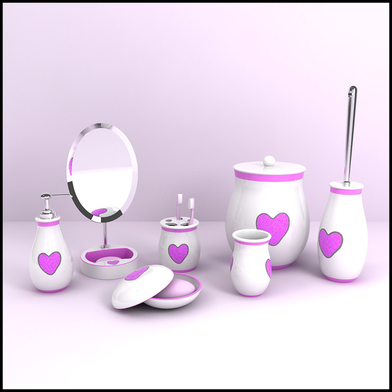3d modern bathroom accessories model for 3d bathroom accessories