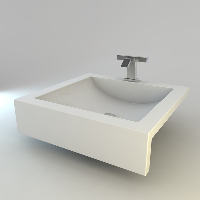 3ds max modern bathroom sink