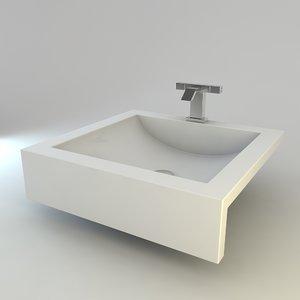 3ds max modern bathroom sink