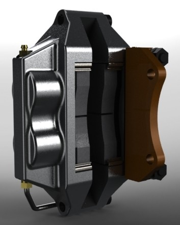 3d model brake disc caliper