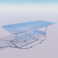 maya chrome glass coffee table