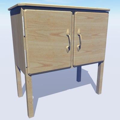 3d model pine cupboard