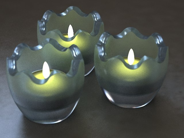 3d model christmas candle lite holder