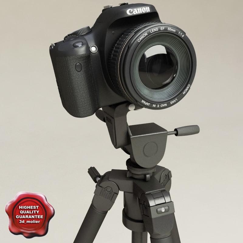 canon eos 450d tripod 3d model