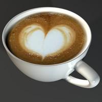 3d cappuccino cup model