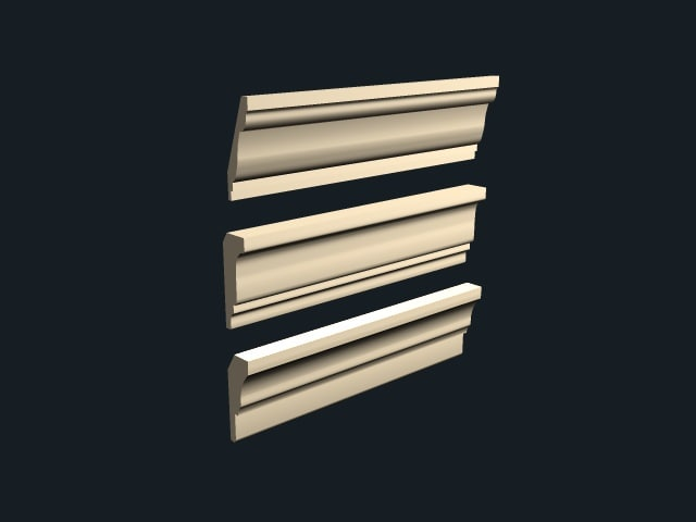 3d model crown molding package 2
