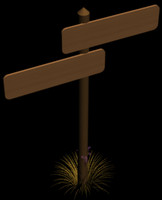 maya double wooden sign post