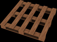 pallet boards 3d 3ds
