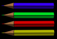 Color Pencil Set (Red/Green/Blue/Yellow)