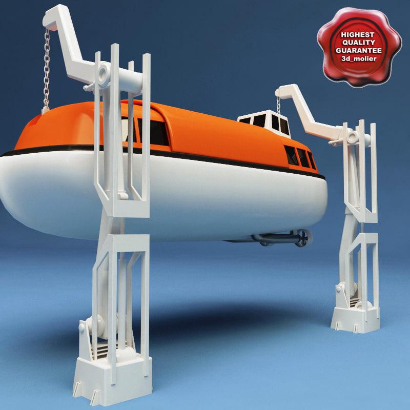 3d model lifeboat v2