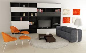 living room 04c 3d model