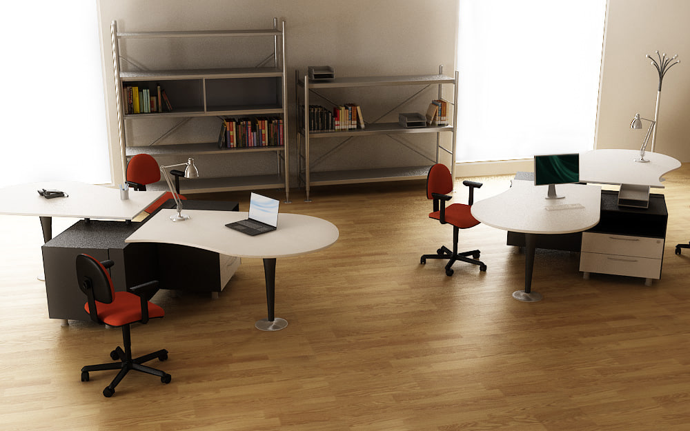 3ds max office interior 02a