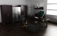 3d model of office interior 03b