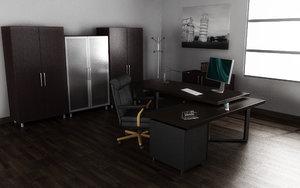 3d model of office interior 03b