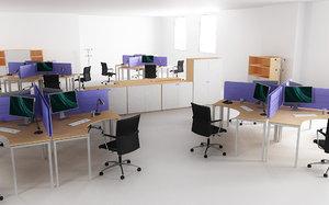 3d model office interior 05a