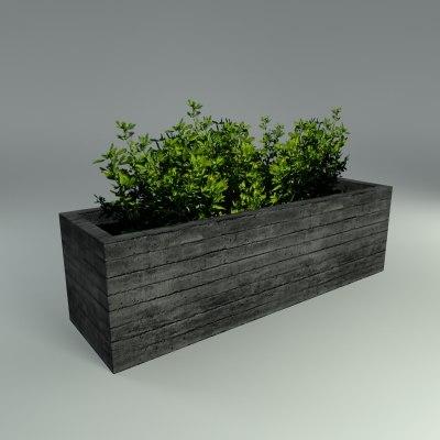 concrete planter 3d model