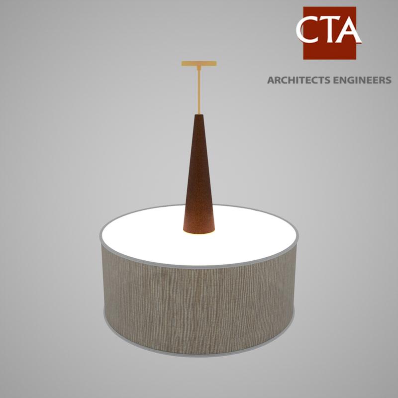 3d model pendent light lamp